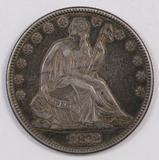 1872 P Seated Liberty Half Dollar.