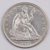 1875 P Seated Liberty Half Dollar.