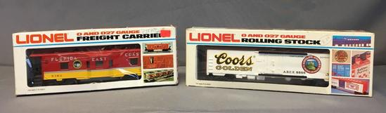 Group of 2 Lionel Coors Billboard Reefer and Florida East Coast Caboose