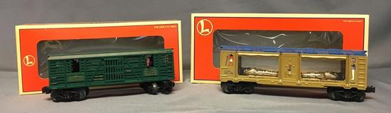 Group of 2 Lionel King Tut Museum Car and Kentucky Derby Horse Train Cars