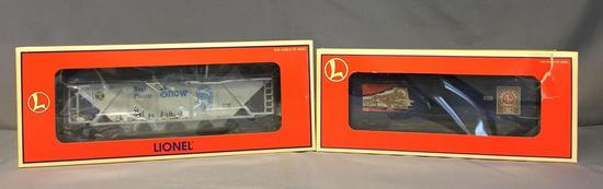 Group of 2 Lionel Railroader Club Boxcar and Dept. 56 Hopper