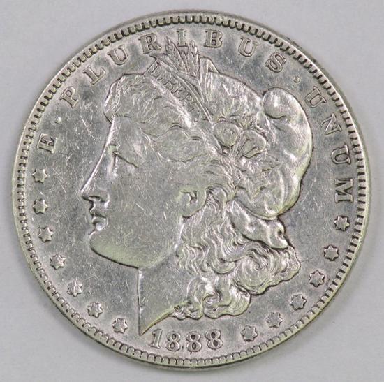 1888 P Morgan Silver Dollar.