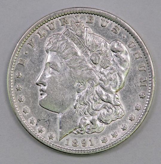 1891 P Morgan Silver Dollar.