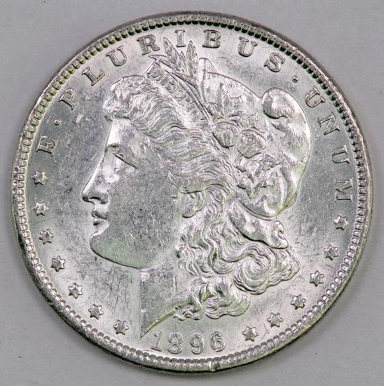 1896 P Morgan Silver Dollar.