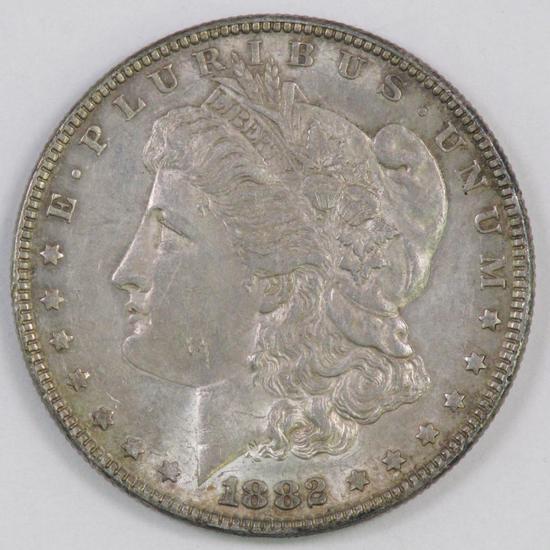 1882 P Morgan Silver Dollar.