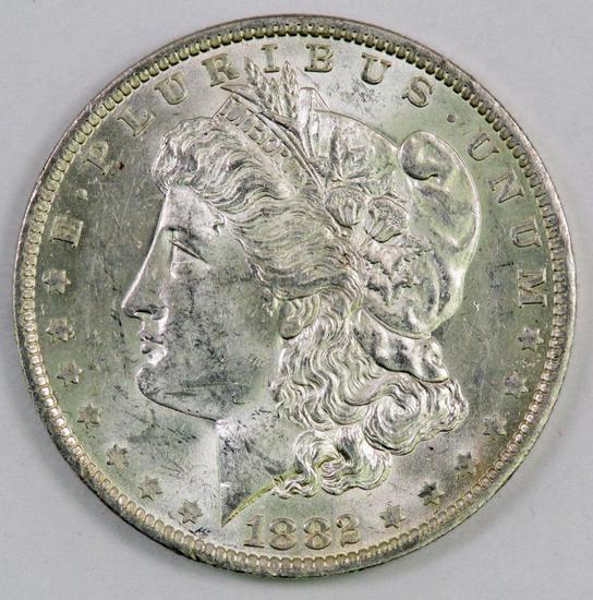1882 O Morgan Silver Dollar.