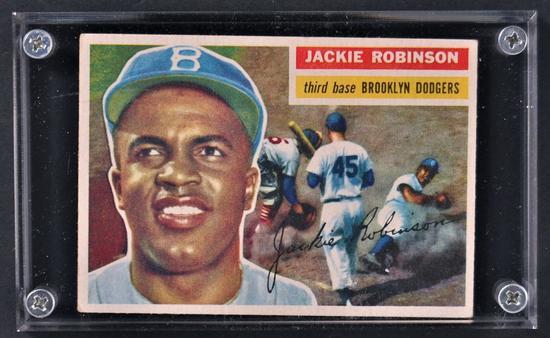 1956 Topps Jackie Robison Baseball Card Art Antiques