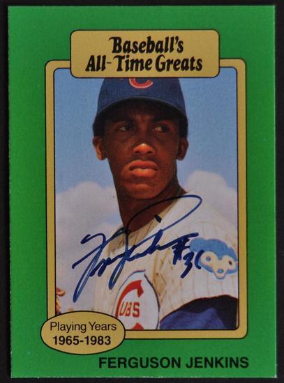 Signed Ferguson Jenkins Baseballs All Time Greats Baseball