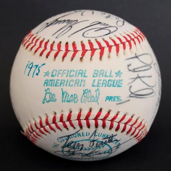 1975 Chicago White Sox Team Signed Baseball