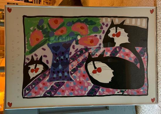 English cat Martha Wahlert framed poster