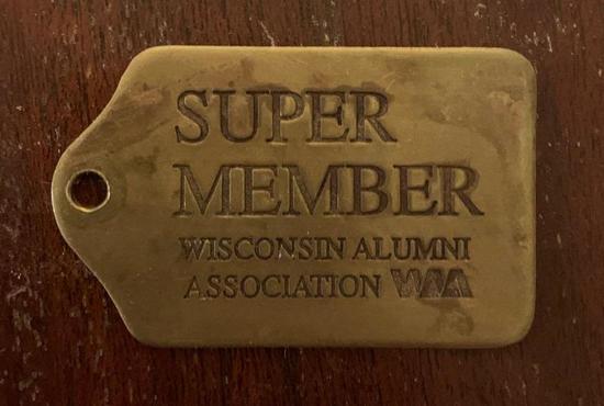 Super member Wisconsin alumni association key Fab
