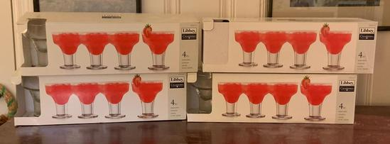 4 boxes of Libbey charisma Cocktail glasses