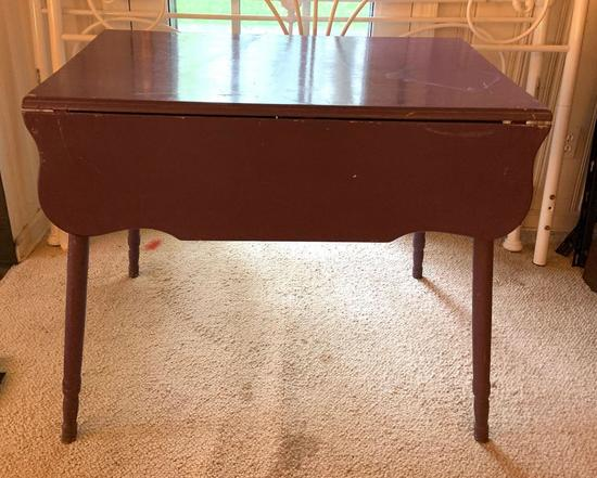 Purple drop leaf table