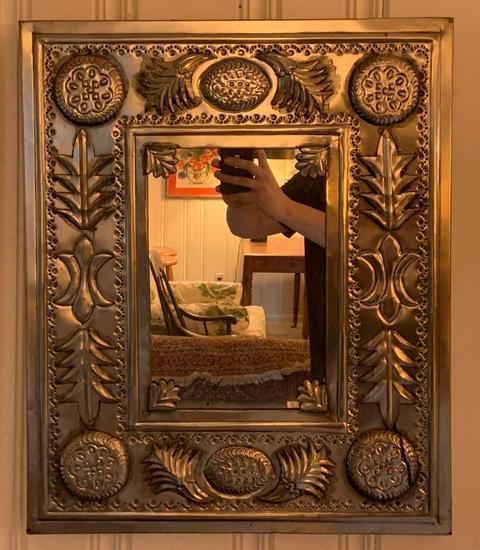 Metal modern art mirror
