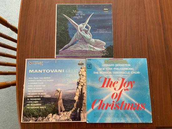 Group of three vintage records