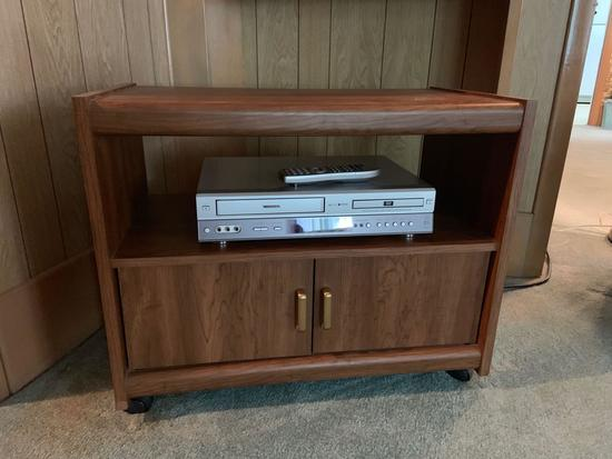 TV stand with DVD VCR combo