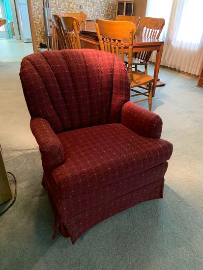 Read upholstered armchair