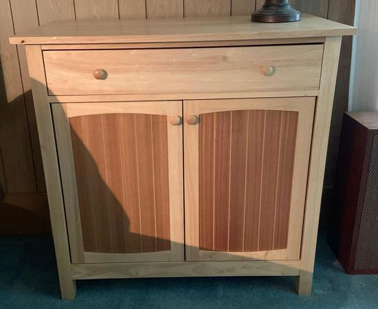 Wooden cabinet with the drawer