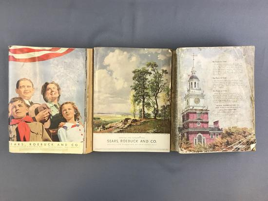 Group of 3 Sears catalogs