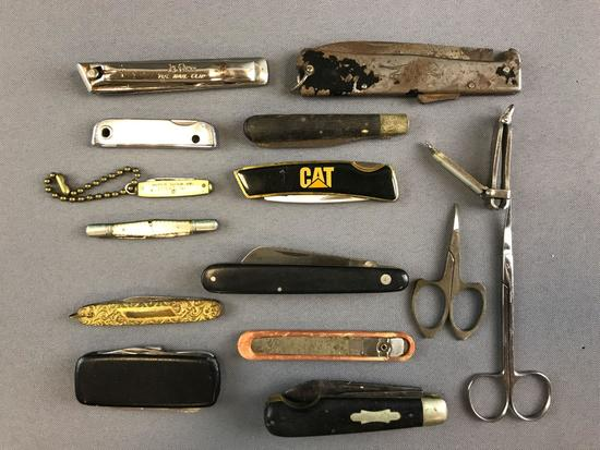 Group pocket knives, clippers, scissors