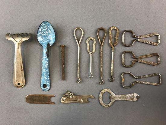 Group of bottle openers and more