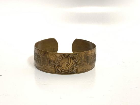 1933?34 Chicago worlds fair souvenir bracelet