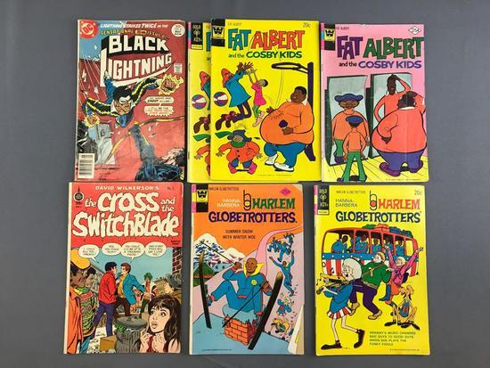 Group of Comic books, Fat Albert, Black Lightning