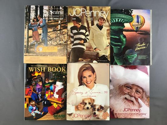 Group of 6 Sears and JCPenney Catalogs