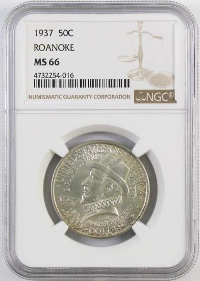 1937 Roanoke Commemorative Silver Half Dollar (NGC) MS66.
