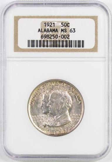 1921 Alabama Commemorative Silver Half Dollar (NGC) MS63.