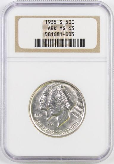 1935 S Arkansas Commemorative Silver Half Dollar (NGC) MS63.