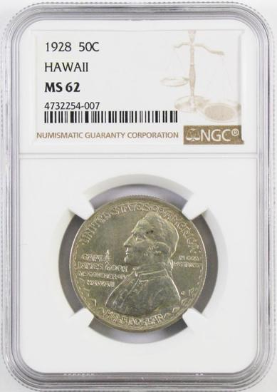 1928 Hawaii Commemorative Silver Half Dollar (NGC) MS62.