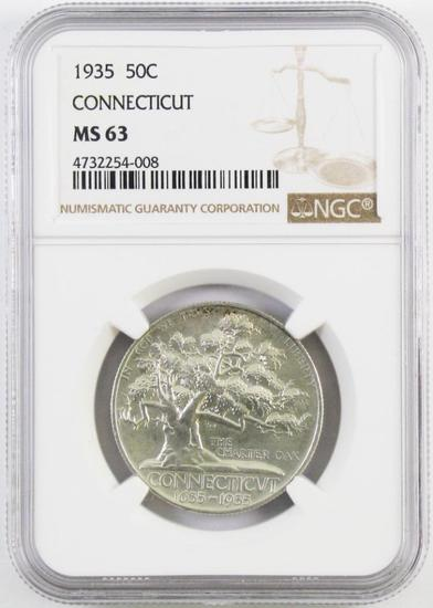 1935 Connecticut Commemorative Silver Half Dollar (NGC) MS63.