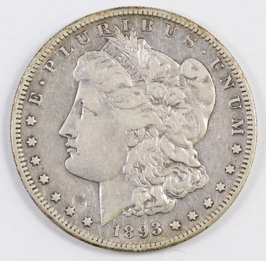 1893 S Morgan Silver Dollar.