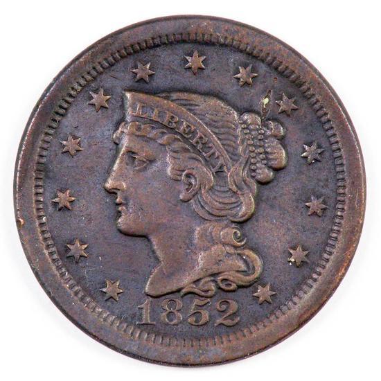 1852 Braided Hair Large Cent.