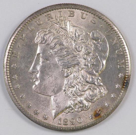 1890 S Morgan Silver Dollar.