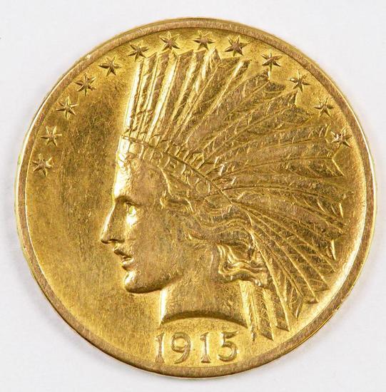 1915 P $10.00 Indian Gold.