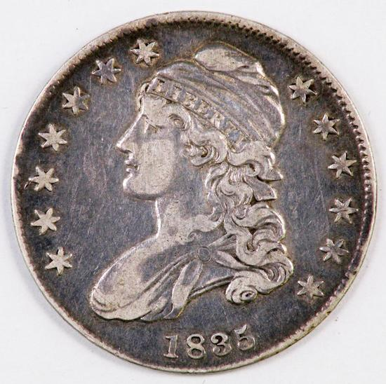 1853 Capped Bust Silver Half Dollar.