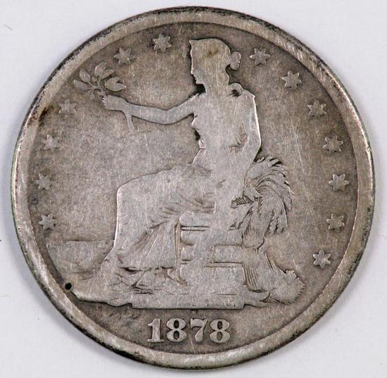 1878 Trade Silver Dollar.