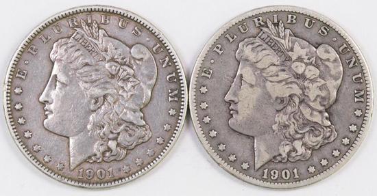 Lot of (2) Morgan Silver Dollars.