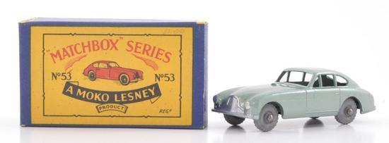 Matchbox No. 53 Aston Martin Die-Cast Car with Original Box