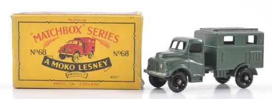 Matchbox No. 68 Army Wireless Truck Die-Cast Vehicle with Original Box