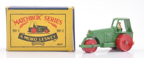Matchbox No. 1 Aveling Barford Road Roller Die-Cast Vehicle with Original Box