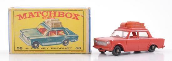 Matchbox No. 56 Fiat 1500 Die-Cast Car with Original Box