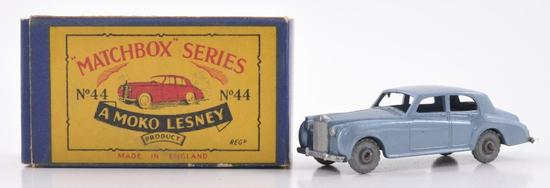 Matchbox No. 44 Rolls Royce Silver Cloud Die-Cast Car with Original Box