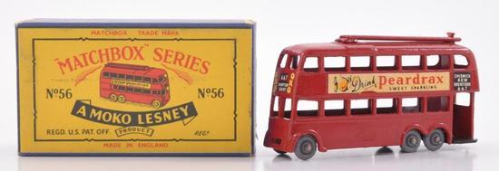 Matchbox No. 56 Trolley Bus Die-Cast Bus with Original Box
