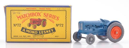 Matchbox No. 72 Fordson Tractor Die-Cast Vehicle with Original Box