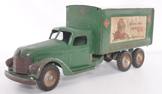 Buddy L Railway Express Agency Advertising Pressed Steel Milk Delivery Truck