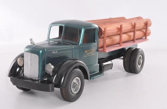 "Smith Miller ""Smitty Toys"" Pressed Steel Log Delivery Truck"
