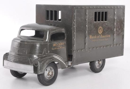 "Smith Miller ""Smitty Toys"" Bank of America Advertising Pressed Steel Delivery Truck"